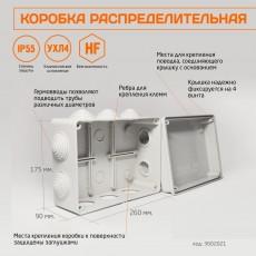 Коробка Распределительная 260*175*90