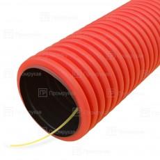 Трубы гофрированные двустенные из ПНД для прокладки кабеля.