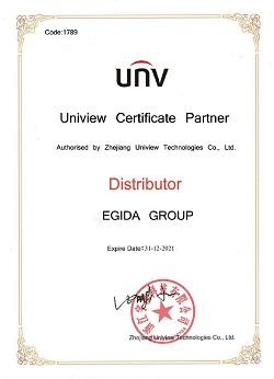 сертификат UNV